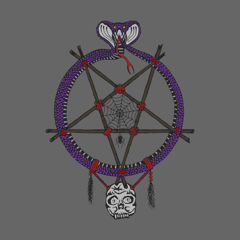 Dark dreamcatcher pentagram Women's V-Neck by shpyart's Artist Shop