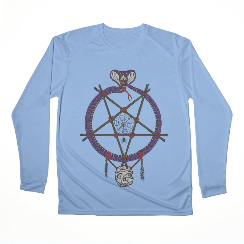 Dark dreamcatcher pentagram Women's Longsleeve T-Shirt by shpyart's Artist Shop
