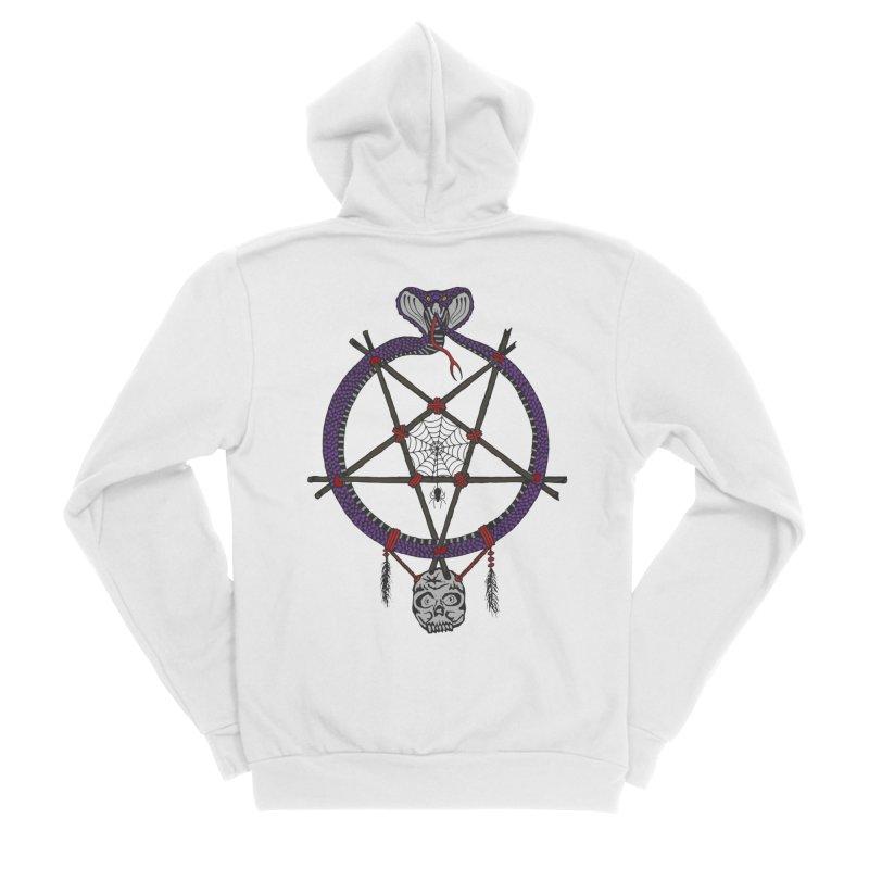 Dark dreamcatcher pentagram Women's Zip-Up Hoody by shpyart's Artist Shop