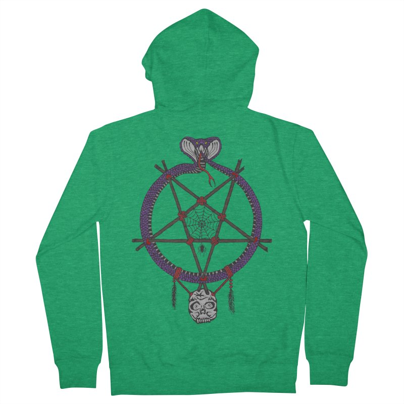 Dark dreamcatcher pentagram Men's Zip-Up Hoody by shpyart's Artist Shop