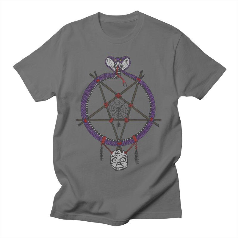 Dark dreamcatcher pentagram Men's T-Shirt by shpyart's Artist Shop