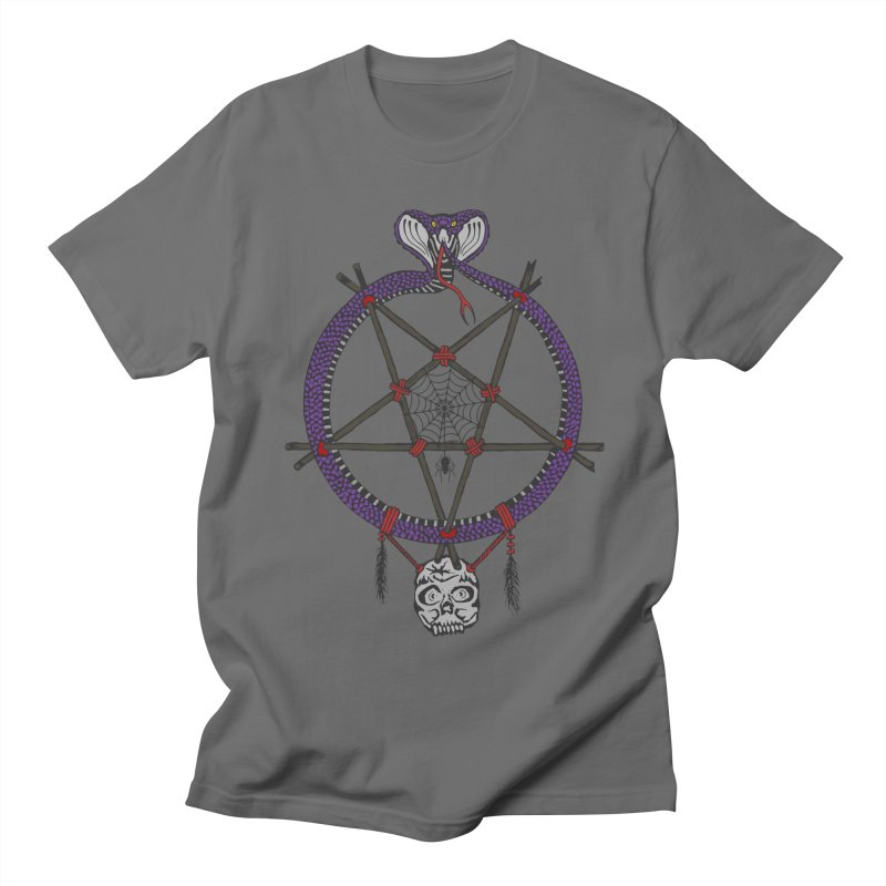 Dark dreamcatcher pentagram Men's T-Shirt by shpyart's Artist Shop