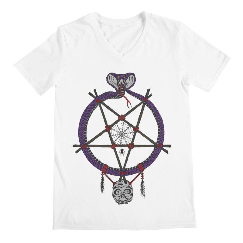 Dark dreamcatcher pentagram Men's V-Neck by shpyart's Artist Shop