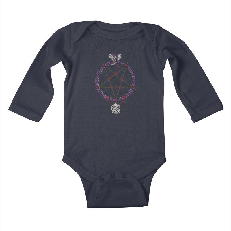 Dark dreamcatcher pentagram Kids Baby Longsleeve Bodysuit by shpyart's Artist Shop