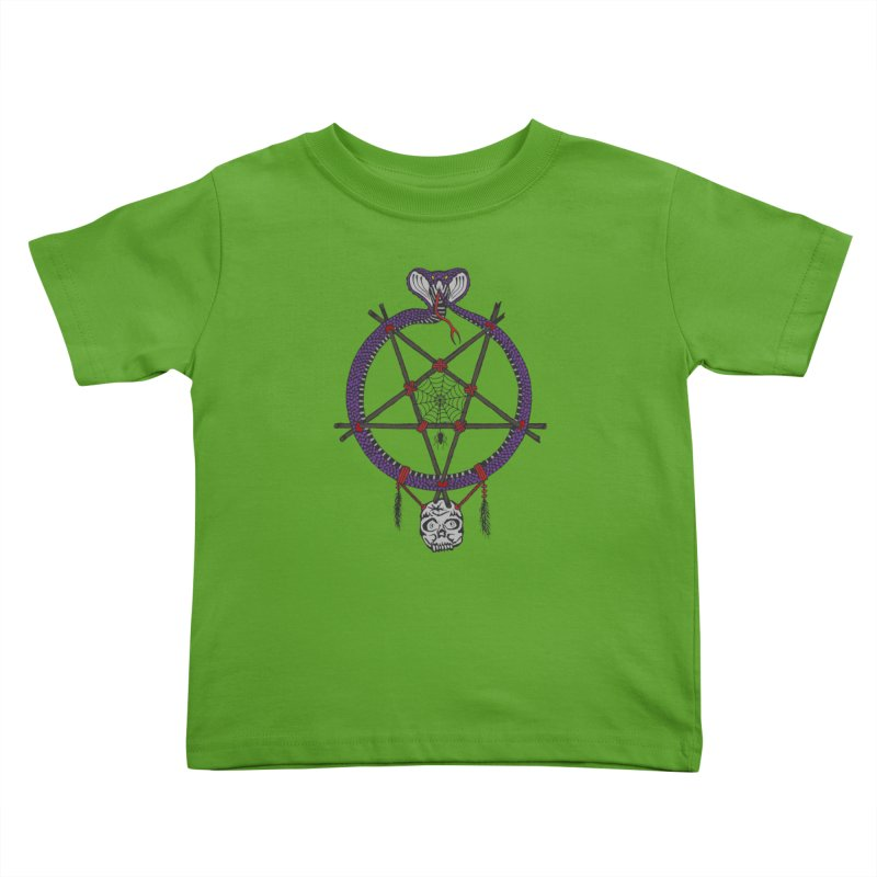 Dark dreamcatcher pentagram Kids Toddler T-Shirt by shpyart's Artist Shop