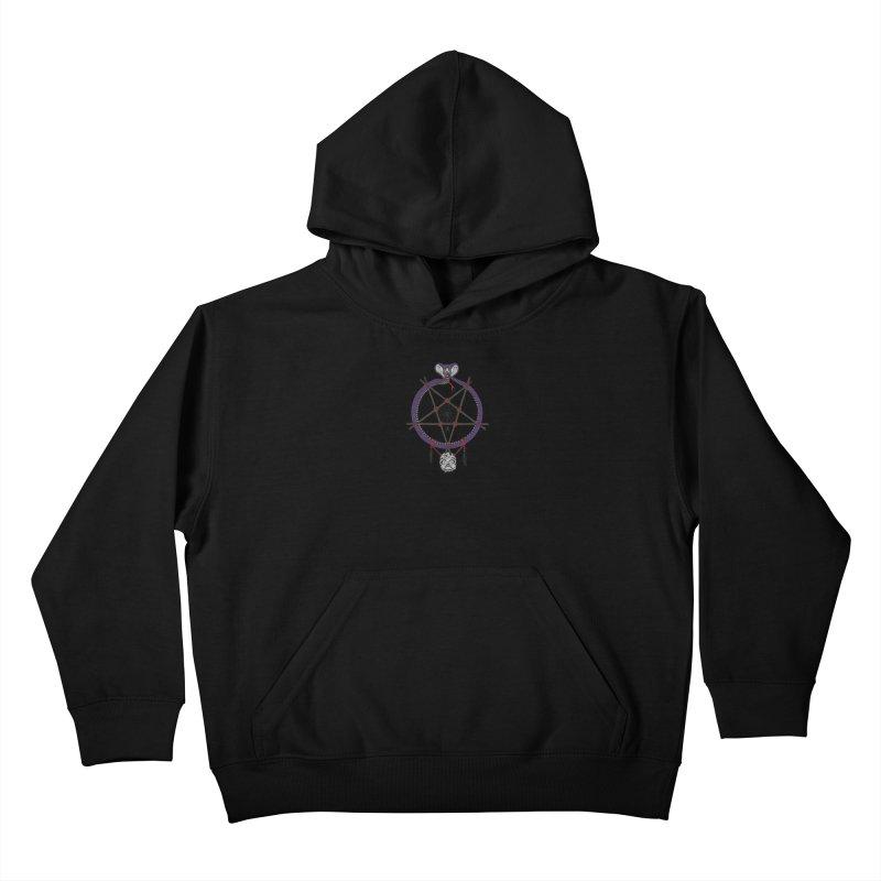 Dark dreamcatcher pentagram Kids Pullover Hoody by shpyart's Artist Shop