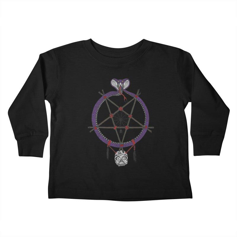 Dark dreamcatcher pentagram Kids Toddler Longsleeve T-Shirt by shpyart's Artist Shop