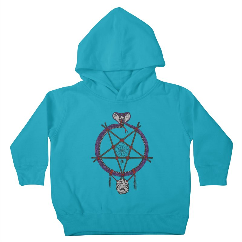Dark dreamcatcher pentagram Kids Toddler Pullover Hoody by shpyart's Artist Shop