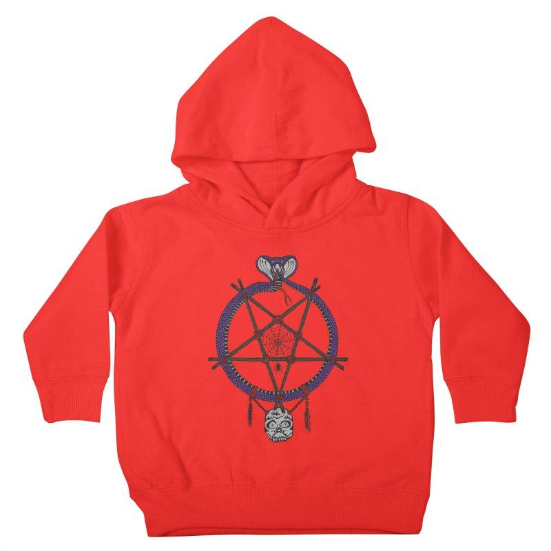 Dark dreamcatcher pentagram Kids Toddler Pullover Hoody by shpyart's Artist Shop