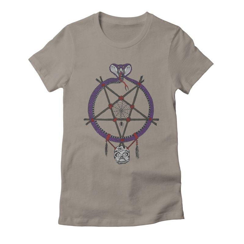 Dark dreamcatcher pentagram Women's T-Shirt by shpyart's Artist Shop