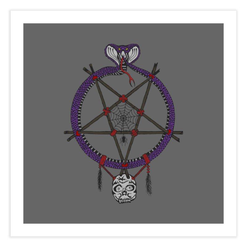 Dark dreamcatcher pentagram Home Fine Art Print by shpyart's Artist Shop