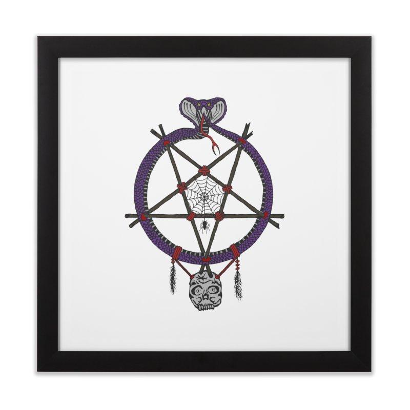 Dark dreamcatcher pentagram Home Framed Fine Art Print by shpyart's Artist Shop