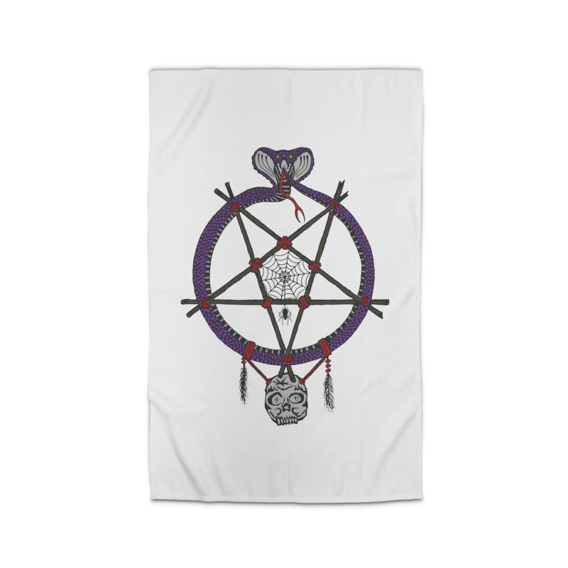 Dark dreamcatcher pentagram Home Rug by shpyart's Artist Shop