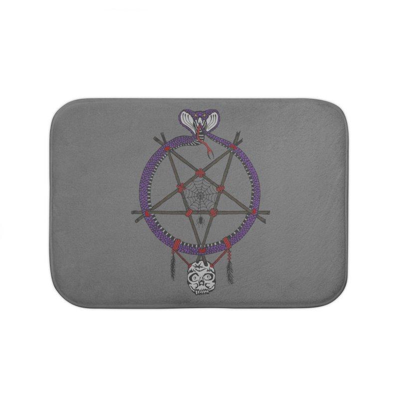 Dark dreamcatcher pentagram Home Bath Mat by shpyart's Artist Shop