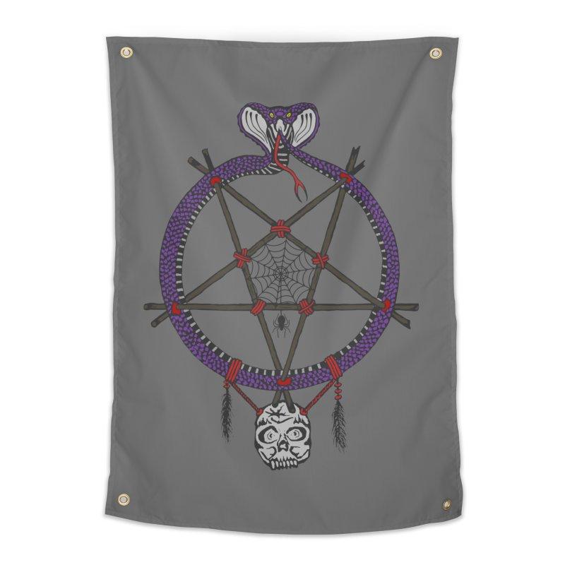 Dark dreamcatcher pentagram Home Tapestry by shpyart's Artist Shop