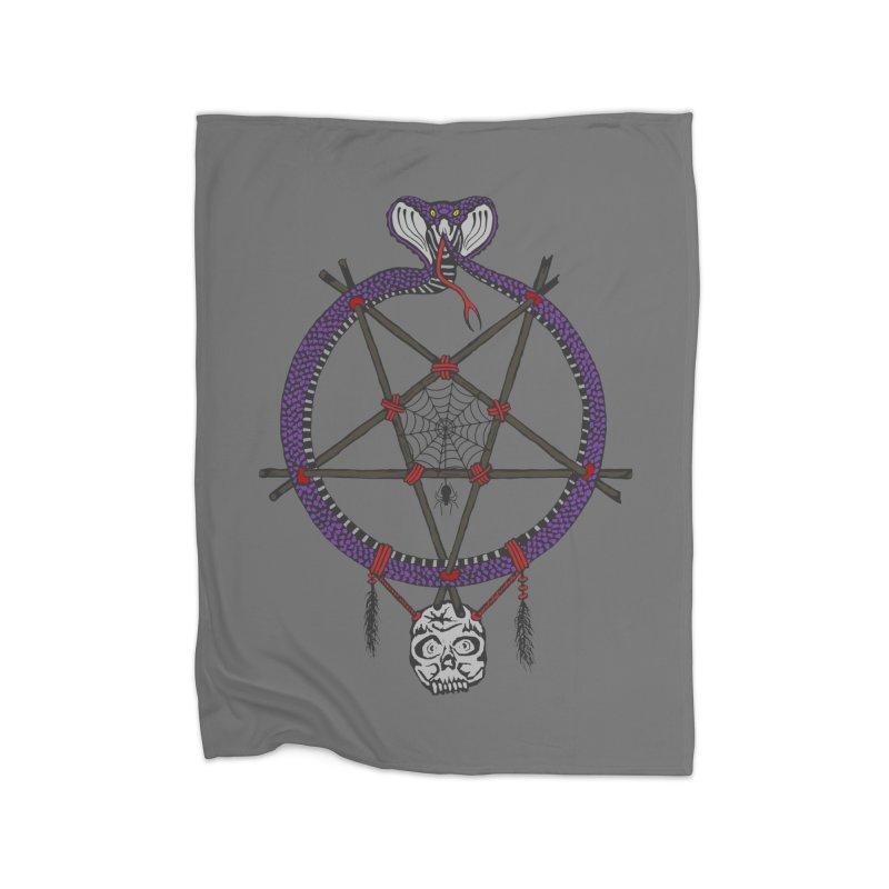 Dark dreamcatcher pentagram Home Blanket by shpyart's Artist Shop