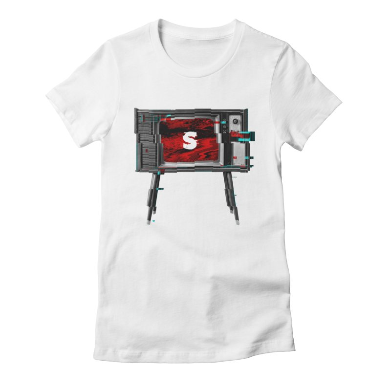 Channel Unavailable Women's Fitted T-Shirt by shudder's Artist Shop