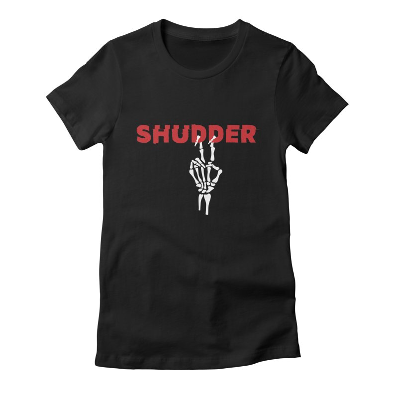 Hanging Out Women's Fitted T-Shirt by shudder's Artist Shop