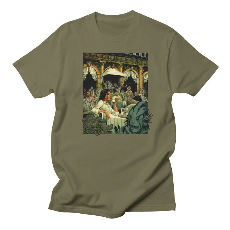 Kate in Italy in Men's Regular T-Shirt Olive by Shuttercomic