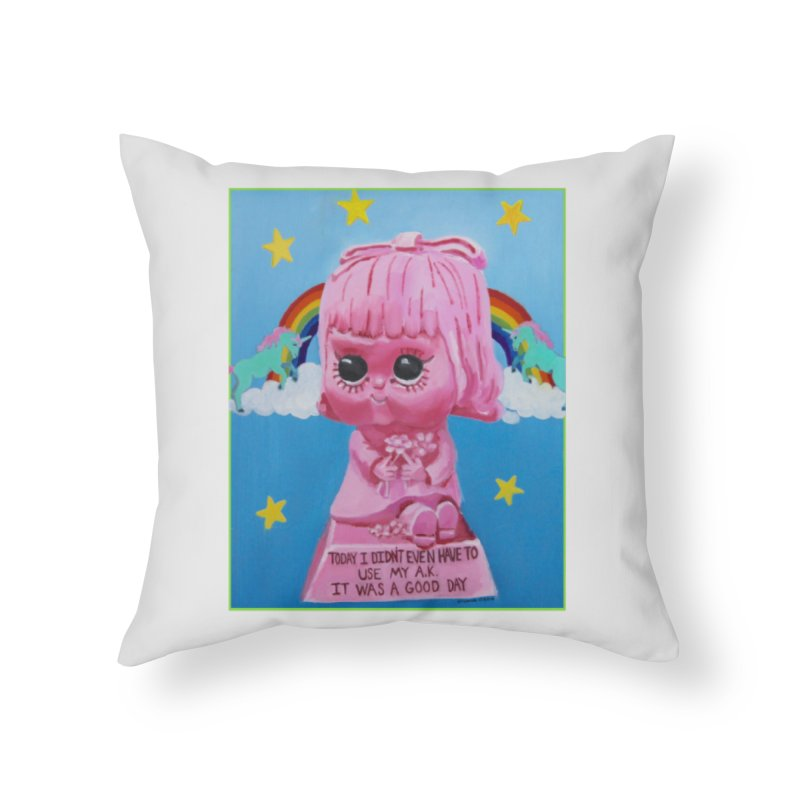It Was a Good Day in Throw Pillow by Yikels - An Artist Shop