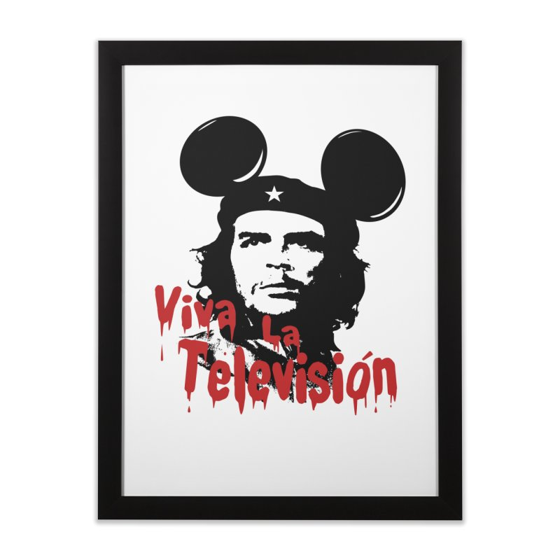 Viva La Television in Framed Fine Art Print Black by Yikels - An Artist Shop