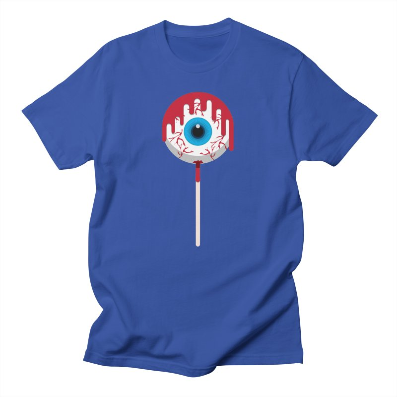 Halloween Eye Candy - Scary, Bloody Creepy Eyeball Lollipop Men's T-Shirt by Sidewise Clothing & Design