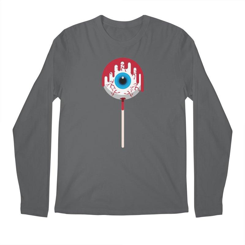 Halloween Eye Candy - Scary, Bloody Creepy Eyeball Lollipop Men's Longsleeve T-Shirt by Sidewise Clothing & Design