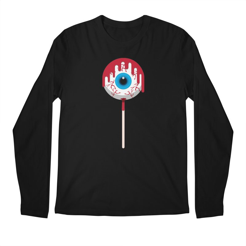 Halloween Eye Candy - Scary, Bloody Creepy Eyeball Lollipop Men's Regular Longsleeve T-Shirt by Sidewise Clothing & Design