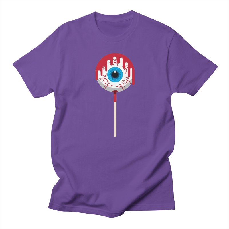 Halloween Eye Candy - Scary, Bloody Creepy Eyeball Lollipop Women's T-Shirt by Sidewise Clothing & Design