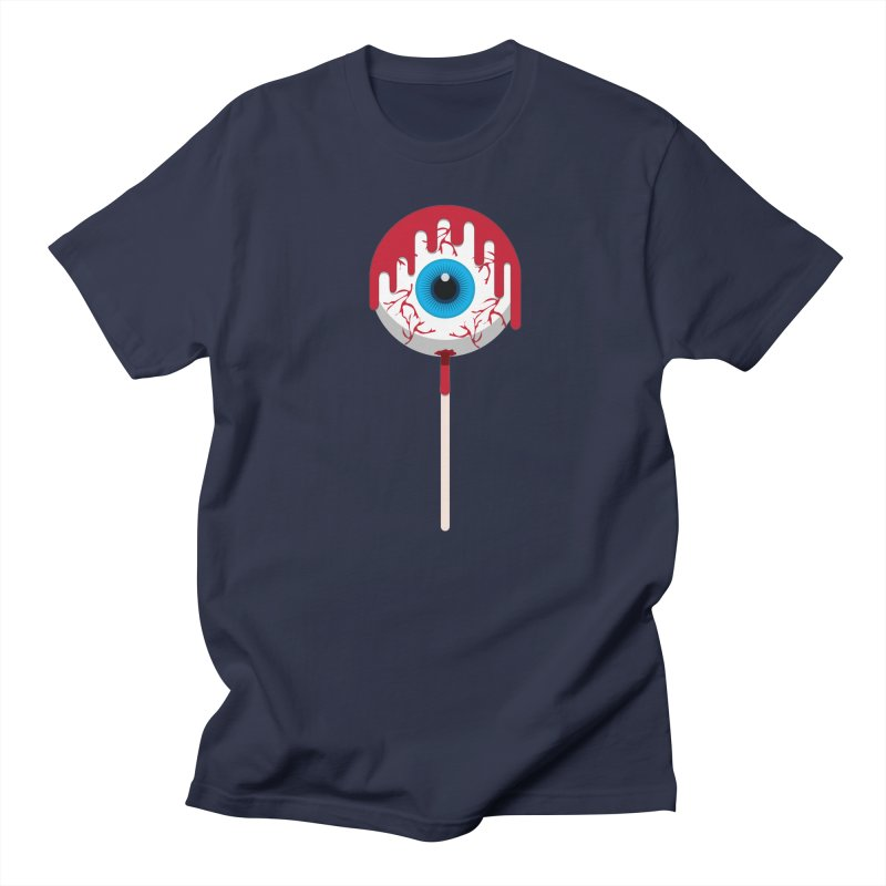 Halloween Eye Candy - Scary, Bloody Creepy Eyeball Lollipop Women's Regular Unisex T-Shirt by Sidewise Clothing & Design