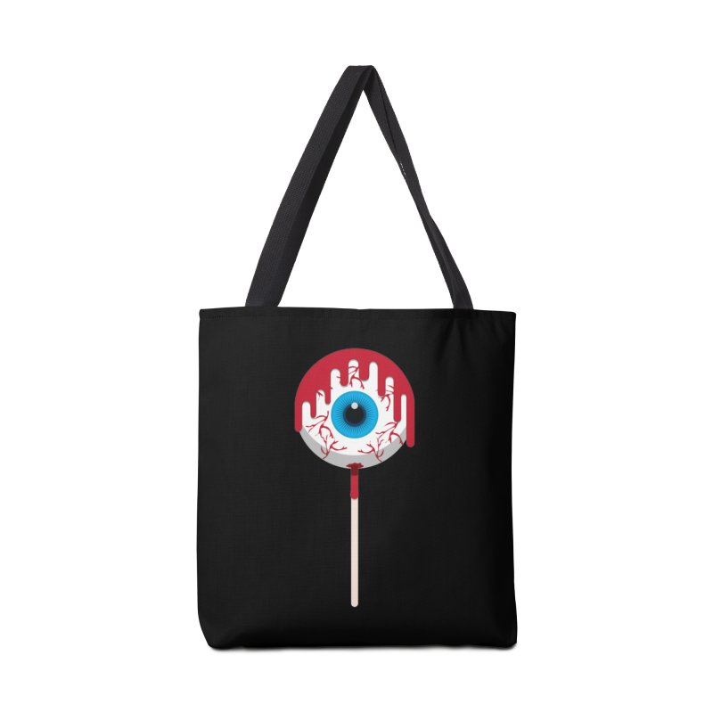 Halloween Eye Candy - Scary, Bloody Creepy Eyeball Lollipop Accessories Bag by Sidewise Clothing & Design