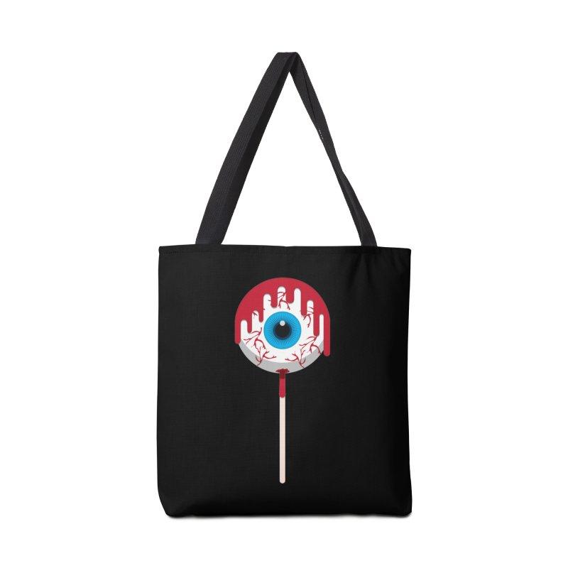Halloween Eye Candy - Scary, Bloody Creepy Eyeball Lollipop Accessories Bag by Sidewise Clothing & Design