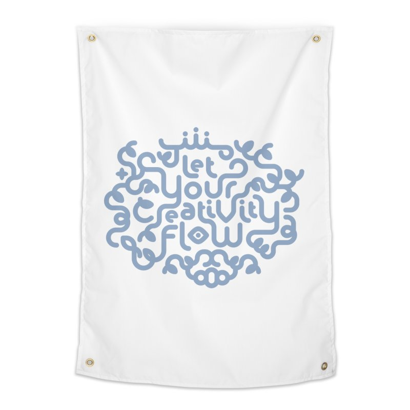 Let Your Creativity Flow Home Tapestry by Sidewise Clothing & Design