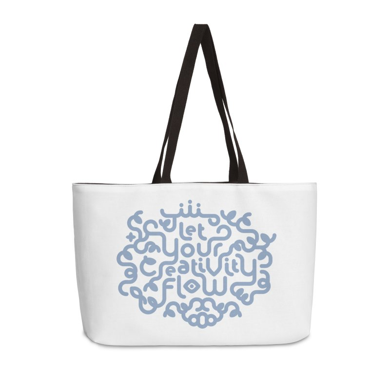 Let Your Creativity Flow Accessories Weekender Bag Bag by Sidewise Clothing & Design