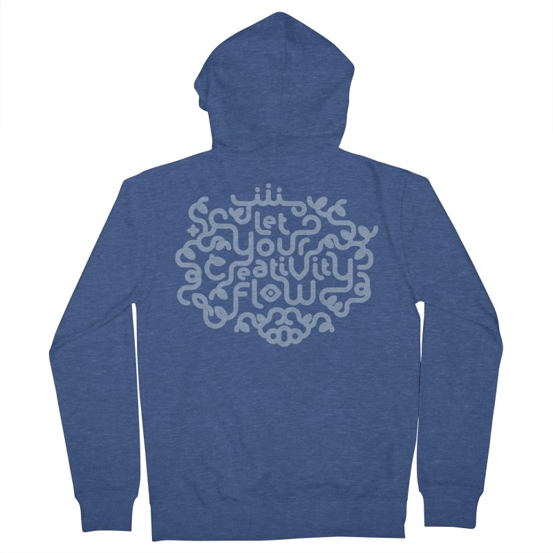 Let Your Creativity Flow Men's Zip-Up Hoody by Sidewise Clothing & Design