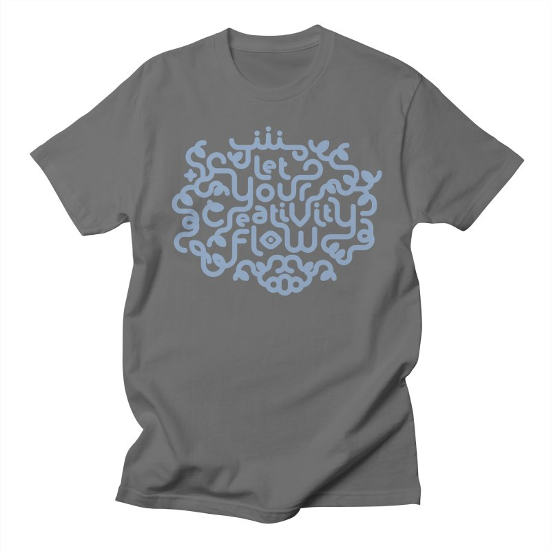 Let Your Creativity Flow Men's T-Shirt by Sidewise Clothing & Design