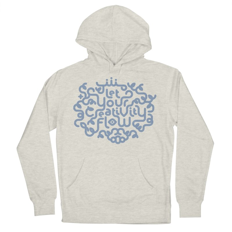 Let Your Creativity Flow Men's French Terry Pullover Hoody by Sidewise Clothing & Design