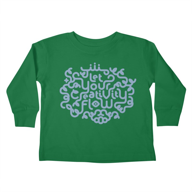 Let Your Creativity Flow Kids Toddler Longsleeve T-Shirt by Sidewise Clothing & Design