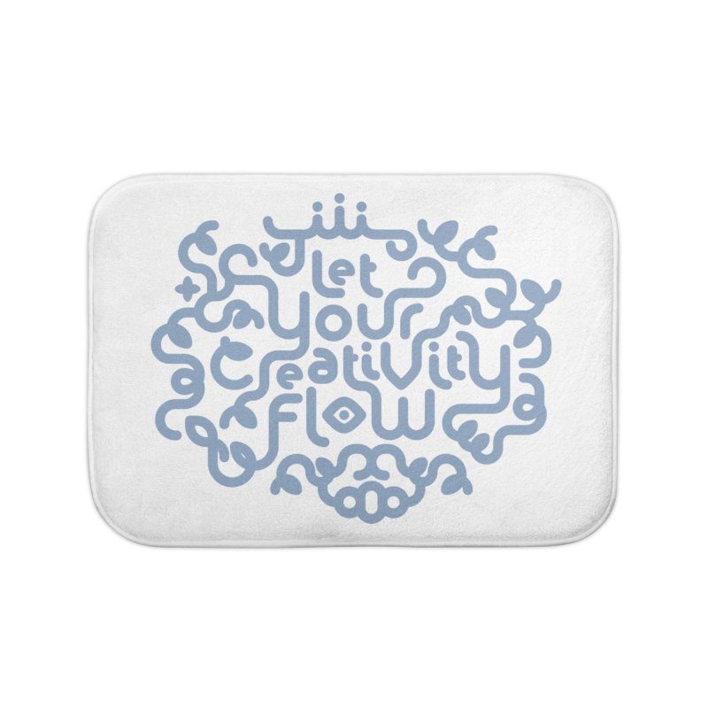 Let Your Creativity Flow Home Bath Mat by Sidewise Clothing & Design