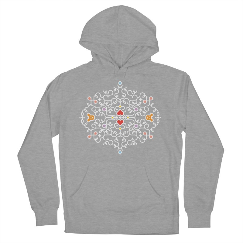 BearHeart™ Women's French Terry Pullover Hoody by Sidewise Clothing & Design