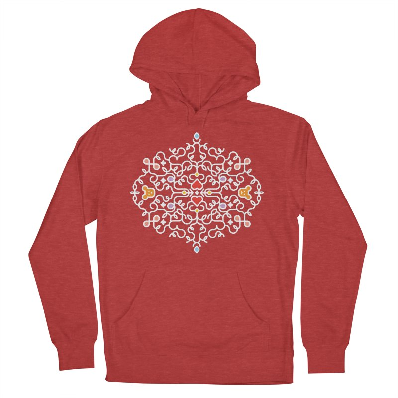 BearHeart™ Men's French Terry Pullover Hoody by Sidewise Clothing & Design