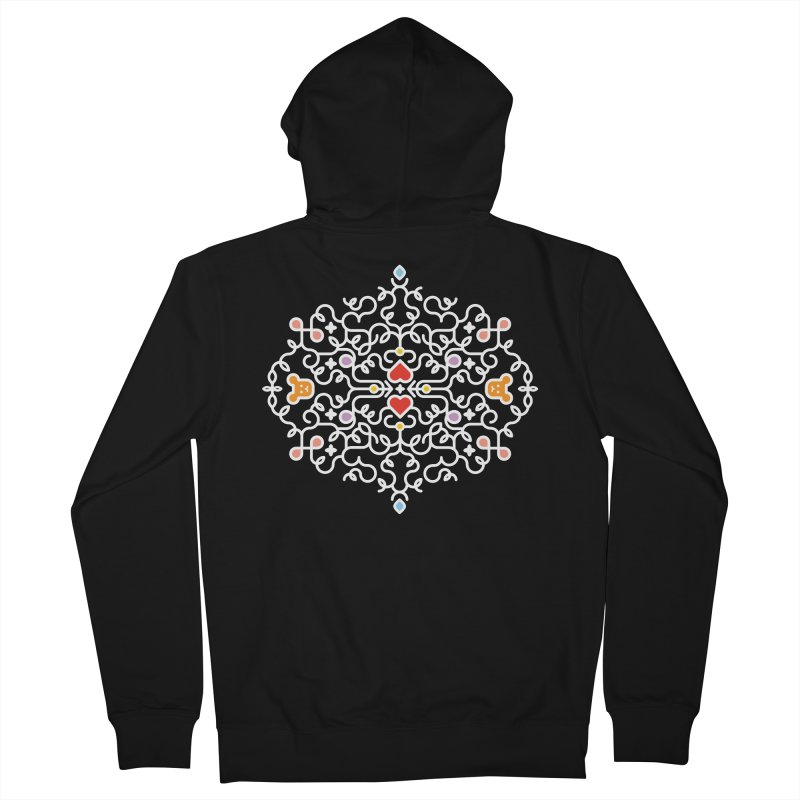 BearHeart™ Men's French Terry Zip-Up Hoody by Sidewise Clothing & Design