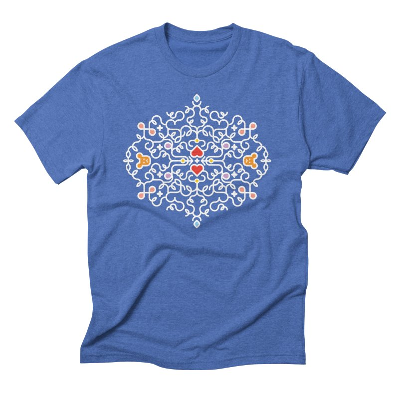 BearHeart™ Men's Triblend T-Shirt by Sidewise Clothing & Design
