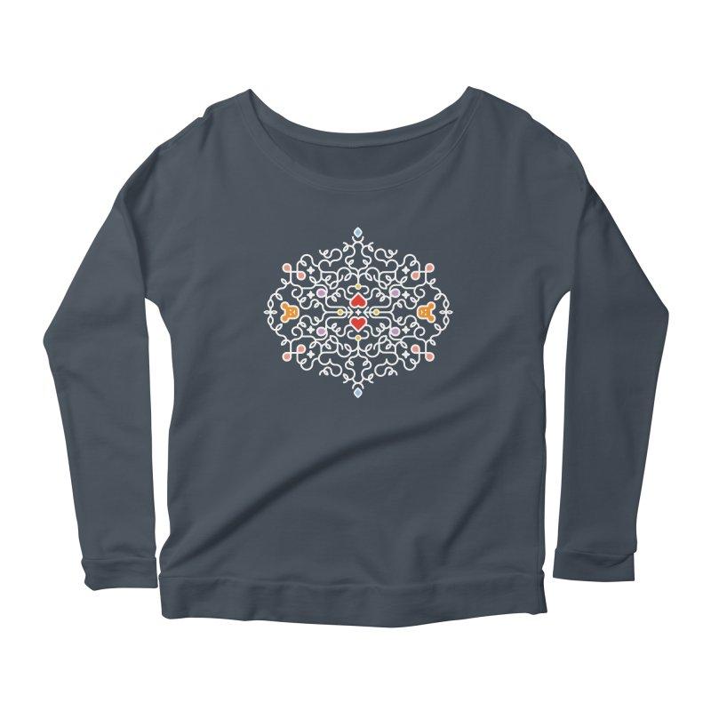 BearHeart™ Women's Scoop Neck Longsleeve T-Shirt by Sidewise Clothing & Design