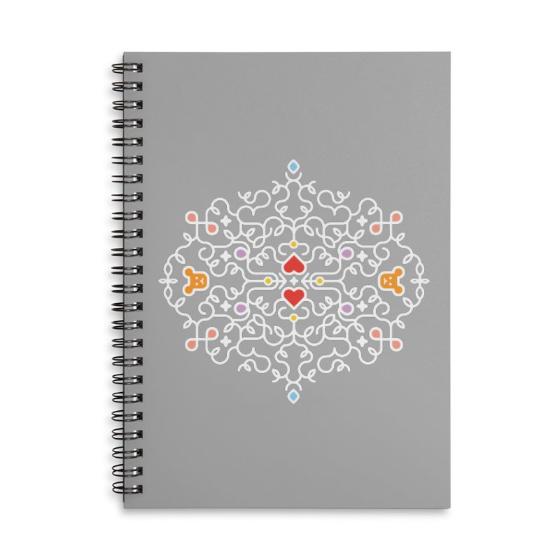 BearHeart™ Accessories Lined Spiral Notebook by Sidewise Clothing & Design