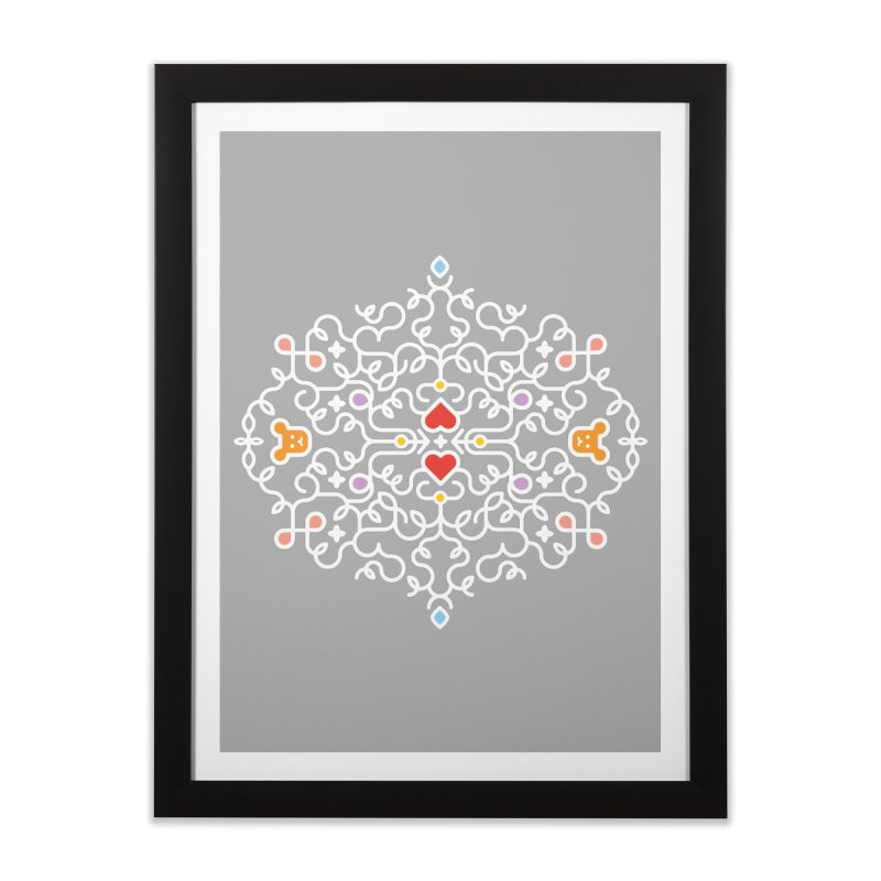 BearHeart™ Home Framed Fine Art Print by Sidewise Clothing & Design