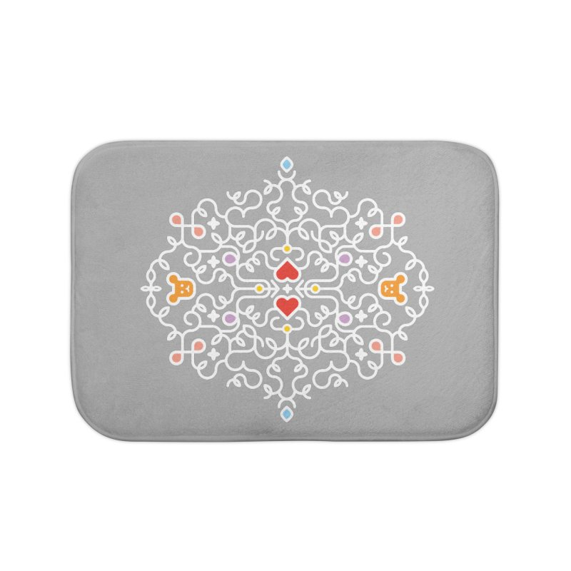 BearHeart™ Home Bath Mat by Sidewise Clothing & Design