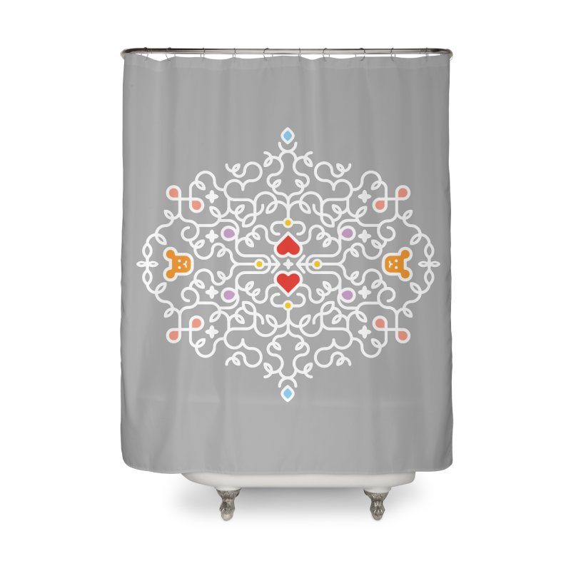 BearHeart™ Home Shower Curtain by Sidewise Clothing & Design