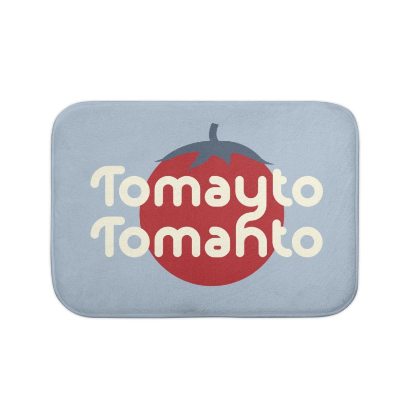 Tomayto Tomahto Home Bath Mat by Sidewise Clothing & Design