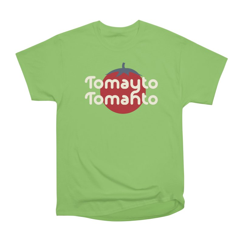 Tomayto Tomahto Men's Heavyweight T-Shirt by Sidewise Clothing & Design